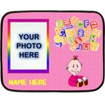 Girls  ABC mini blanket 3 - Double Sided Fleece Blanket (Mini)