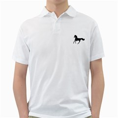 Running Horse Mens  Polo Shirt (white) by mysticalimages
