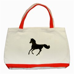 Running Horse Classic Tote Bag (red) by mysticalimages