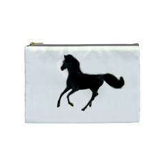 Running Horse Cosmetic Bag (medium) by mysticalimages