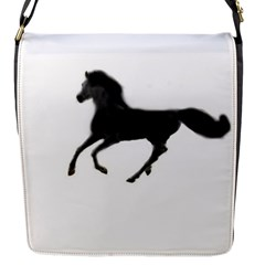 Running Horse Flap Closure Messenger Bag (small) by mysticalimages