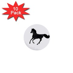 Running Horse 1  Mini Button (10 Pack) by mysticalimages