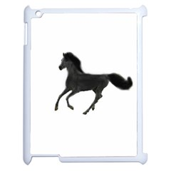 Running Horse Apple Ipad 2 Case (white) by mysticalimages
