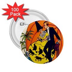 Hallowe en Greetings  2.25  Button (100 pack)