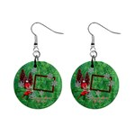 Remember When Elf Christmas button earrings - 1  Button Earrings