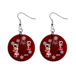 Angels Christmas  button earrings - 1  Button Earrings