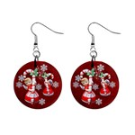 Angels Christmas no frame  button earrings - 1  Button Earrings