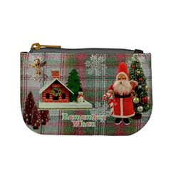 No Frame Stocking Stuffer Remember When Santa Merry Christmas Mini Coin Purse By Ellan   Mini Coin Purse   Aklu4pgf337i   Www Artscow Com Front