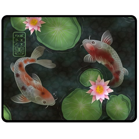 Koi Throw By Amelia K  Little   Fleece Blanket (medium)   Ze7vefcsujr6   Www Artscow Com 60 x50 Blanket Front