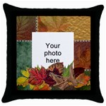 Autumn Throw Pillow Case - Throw Pillow Case (Black)