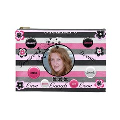 Heather By Virginia Rodriguez   Cosmetic Bag (large)   Pzq9d69omvzp   Www Artscow Com Front