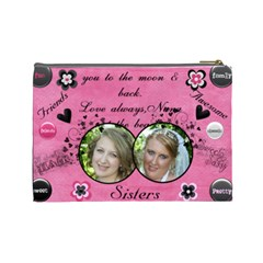 Heather By Virginia Rodriguez   Cosmetic Bag (large)   Pzq9d69omvzp   Www Artscow Com Back