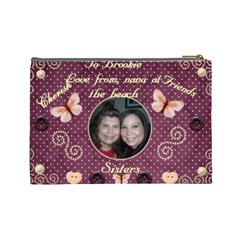 Brooke By Virginia Rodriguez   Cosmetic Bag (large)   T706rawue09x   Www Artscow Com Back