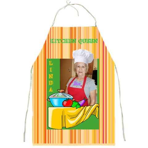 Kitchen Queen Apron By Joy Johns   Full Print Apron   Yt8yskd7kz0b   Www Artscow Com Front