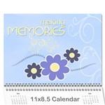2016 Serenity Blue Photo Calendar 11x8.5-12 months - Wall Calendar 11  x 8.5  (12-Months)