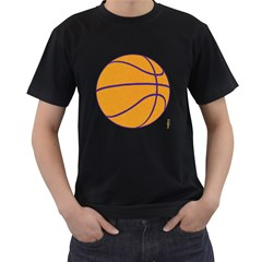 Los Angeles Lakers Basketball Mens' T Shirt (black) by fokbrosspeedcow