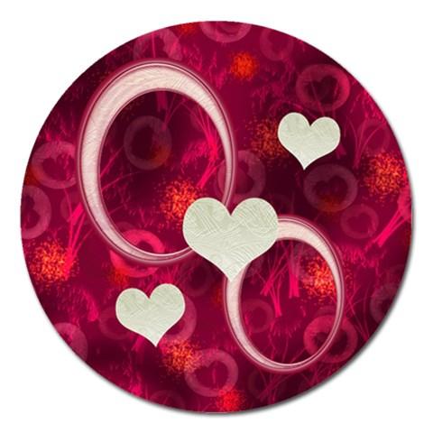 I Heart You Pink Round Magnet By Ellan   Magnet 5  (round)   Jqm9hcu3x9zs   Www Artscow Com Front