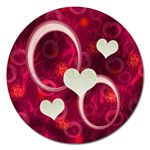 I Heart You Pink Round Magnet - Magnet 5  (Round)