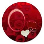 I Heart You Red Round Magnet - Magnet 5  (Round)