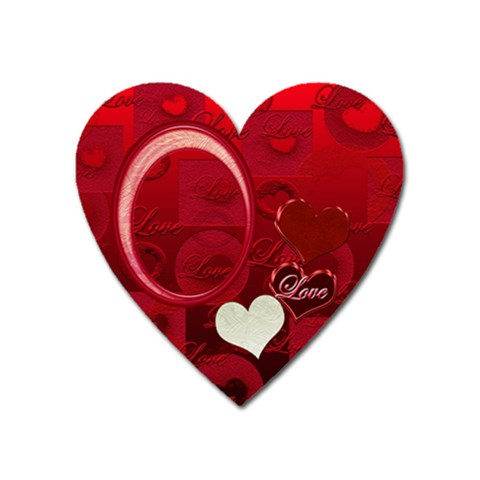 I Heart You Red Heart Magnet By Ellan   Magnet (heart)   Q4cdgp4ezhuk   Www Artscow Com Front