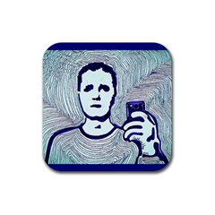 Snapshot Blue Drink Coasters 4 Pack (square)
