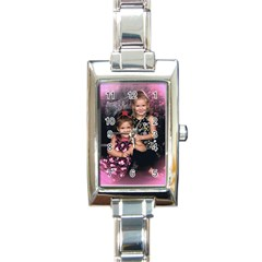 Candence And Abbey   Copy Rectangular Italian Charm Watch