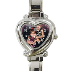 Candence And Abbey   Copy Heart Italian Charm Watch  by tammystotesandtreasures