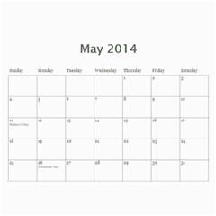 Year Calendar By C1   Wall Calendar 11  X 8 5  (12 Months)   Gcfamue2r9wy   Www Artscow Com May 2014