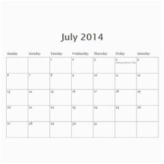 Year Calendar By C1   Wall Calendar 11  X 8 5  (12 Months)   Gcfamue2r9wy   Www Artscow Com Jul 2014