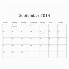 Year Calendar By C1   Wall Calendar 11  X 8 5  (12 Months)   Gcfamue2r9wy   Www Artscow Com Sep 2014