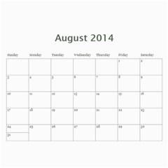 Year Calendar By C1   Wall Calendar 11  X 8 5  (12 Months)   Uaszwygjbb9o   Www Artscow Com Aug 2014