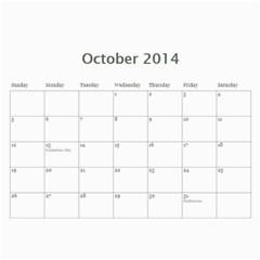 Year Calendar By C1   Wall Calendar 11  X 8 5  (12 Months)   Uaszwygjbb9o   Www Artscow Com Oct 2014