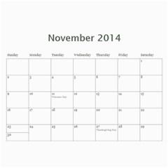Year Calendar By C1   Wall Calendar 11  X 8 5  (12 Months)   Uaszwygjbb9o   Www Artscow Com Nov 2014