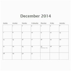 Year Calendar By C1   Wall Calendar 11  X 8 5  (12 Months)   Uaszwygjbb9o   Www Artscow Com Dec 2014