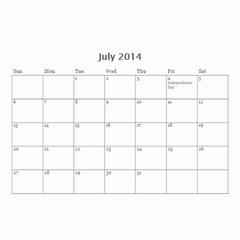 Year Calendar By C1   Wall Calendar 8 5  X 6    5susgpxop77w   Www Artscow Com Jul 2014