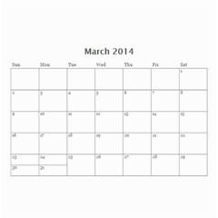 Year Calendar By C1   Wall Calendar 8 5  X 6    5susgpxop77w   Www Artscow Com Mar 2014