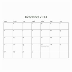 Year Calendar By C1   Wall Calendar 8 5  X 6    D9a2ogzx6fri   Www Artscow Com Dec 2014