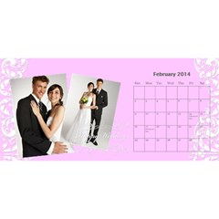Year Of Calendar By C1   Desktop Calendar 11  X 5    Ad3o63wcxcaw   Www Artscow Com Feb 2014