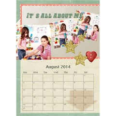 Year Of Calendar By C1   Desktop Calendar 6  X 8 5    Cnkq7343cywt   Www Artscow Com Aug 2014