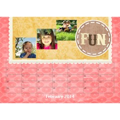 Year Of Calendar By C1   Desktop Calendar 8 5  X 6    1gkrmjicuzbo   Www Artscow Com Feb 2014