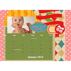 Year Of Calendar By C1   Desktop Calendar 8 5  X 6    177pzjup5l9w   Www Artscow Com Jan 2014