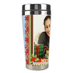 Christmas By Merry Christmas   Stainless Steel Travel Tumbler   Oenvamb8us7w   Www Artscow Com Left