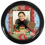 christmas - Wall Clock (Black)