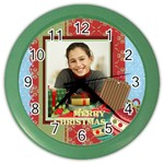 christmas - Color Wall Clock