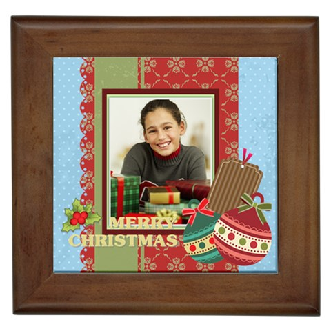 Christmas By Merry Christmas   Framed Tile   2xiyr39qscnp   Www Artscow Com Front