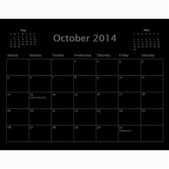 Dug 2014 By Nikki Johnson   Wall Calendar 11  X 8 5  (12 Months)   Lg9kkbrsjig0   Www Artscow Com Oct 2014