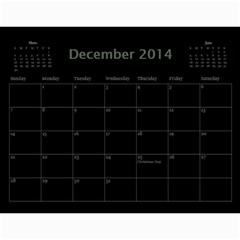 Dug 2014 By Nikki Johnson   Wall Calendar 11  X 8 5  (12 Months)   Lg9kkbrsjig0   Www Artscow Com Dec 2014