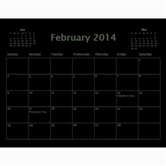 Dug 2014 By Nikki Johnson   Wall Calendar 11  X 8 5  (12 Months)   Lg9kkbrsjig0   Www Artscow Com Feb 2014