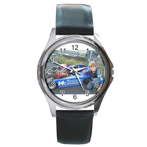 Watch By Nikit Boonroueng   Round Metal Watch   Ncjeoolin4yw   Www Artscow Com Front