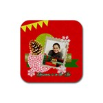 christmas - Rubber Square Coaster (4 pack)
